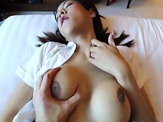 HELLOLADYBOY Asian School Ladyboy Fucked In Her Mini Skirt