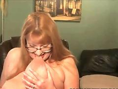 Hot tempered blonde Angel Marie sucks black lolly cock
