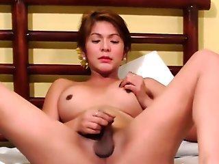 Busty piladyboy pulling her hard dick
