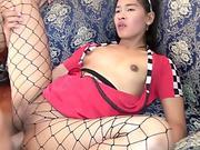 Sexy slut rides the cock