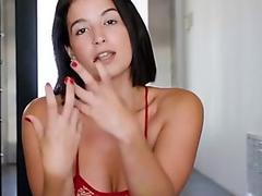 Throated - Latina MILF Slurps & Swallows Whole Cock