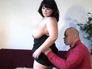 Mature BBW with big tits sucks and fucks