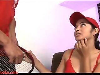 Gorgeous Teen Gets Dildo Masturbating