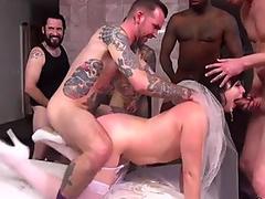 Milf bride dp gangbang fucked