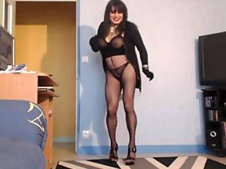 Glamkore - Euro Slut Black Sophie fucks bf's friend