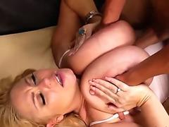 Blonde submitted to shemales Mandy Mitchell and Kitty Kaiti