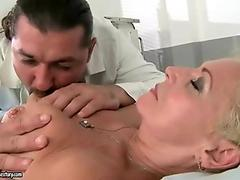 Horny doctor fucking hot granny