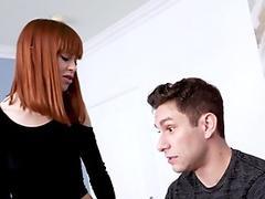 Femdom teen and milf redhead swap cum