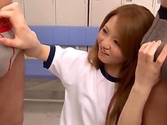Intense Sakamoto Hikari amazing hardcore threesome