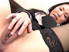 Bondage girl trembling of pain and pleasure