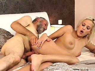 Grandpa Surprise your gf and she will pound with your dad