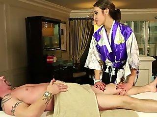 Chubby Indian MILF babe gets fucked and facial by white boss