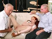 Kinky gal fisting his hungry asshole