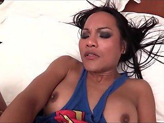 Ladyboy Kyrha Supergirl Creamed Hole