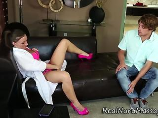 Fetish masseuse blows