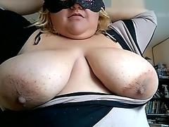 Naughty Grandma Strips And Rubs Her Pussy