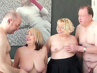 AgedLovE red-hot Mature Trisha and Lexie Cummings Groupsex