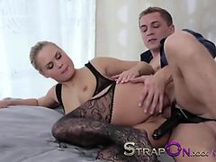 Lacey Channing virtual footjob with Victoria Rae