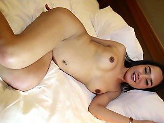 Hello LadyBoy - Sexy ladyboy gets fucked by white cock