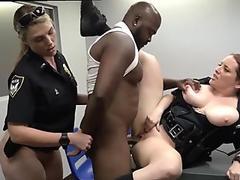 Black fucks white Milf Cops