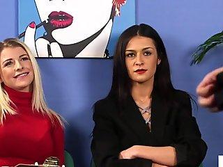 CFNM babes dominate over sub stranger