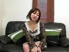 Asian Gets Impaled by Big African Cock!