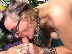 Free Footjob by Irina Vega in black stockings Porn Video