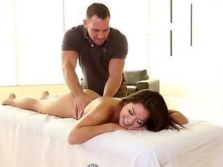 Sexy Morgan Lee gets the rub down